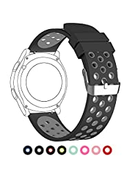 18mm Universal Smart Watch Bands, FanTEK Soft Silicone Sport Quick Release Watch Strap Wristband for Huawei Watch/ LG Watch Style/ Withings Steel HR 36mm--L Size