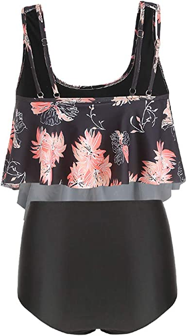 CharMma Rosegal Women's Plus Size High Waist Padded Floral