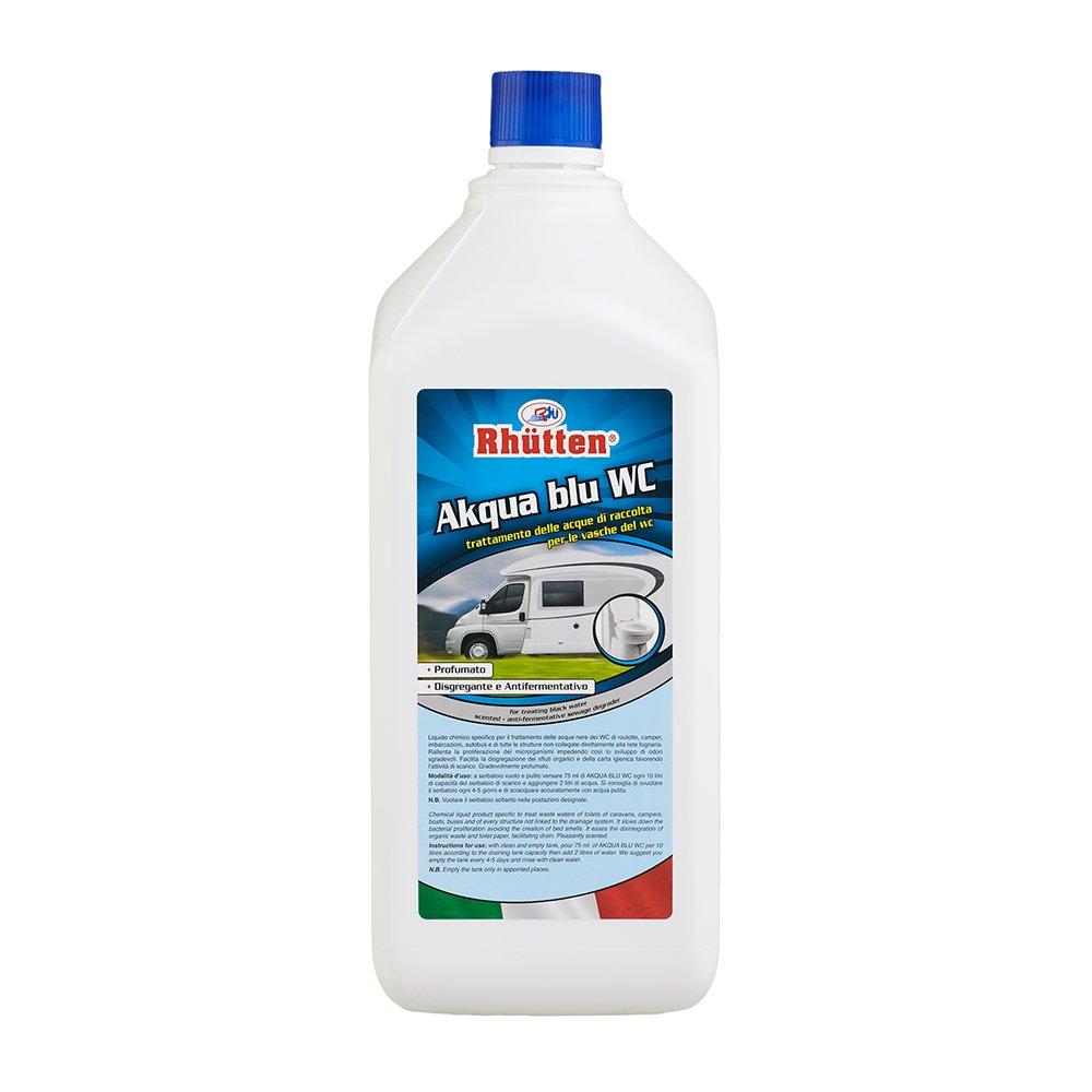 Rhutten 180311 Liquido Chimico Akqua Blu WC 2 Litri