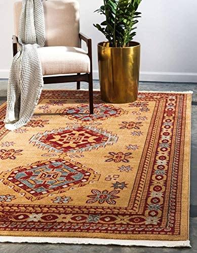 Unique Loom Sahand Collection Traditional Geometric Classic Beige Area Rug 10 6 x 16 5