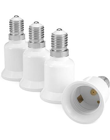 kwmobile 4X Casquillos de lámpara - Adaptador conversor de Montura E14 a Casquillo E27 - Zócalos
