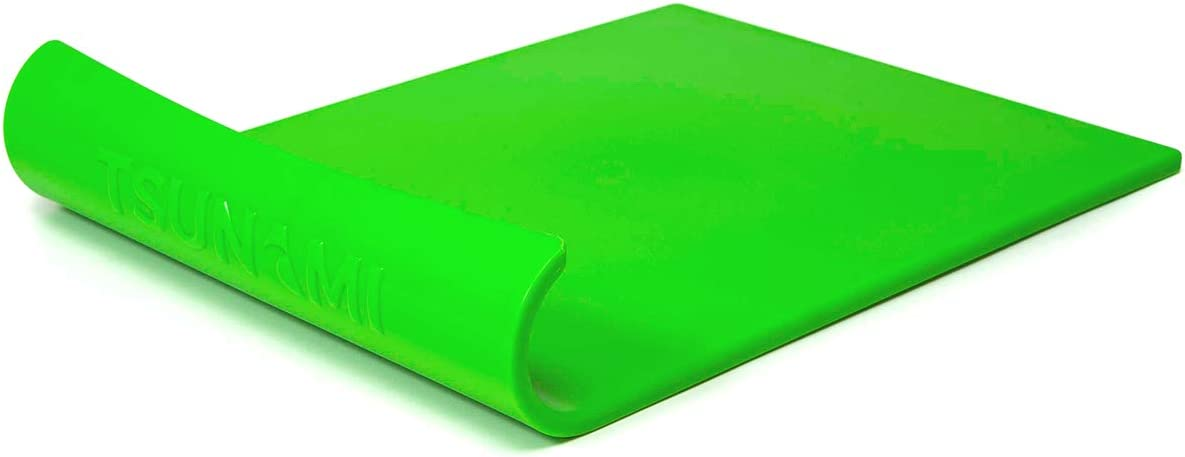 Tsunami Cutting Board | Unique Wave Designed to Make Prepping Safer, Easier and FASTER | Durable, Non-Slip Cutting Board for Food Prep | BPA-Free, Non-Porus, Dishwasher Safe (Green)