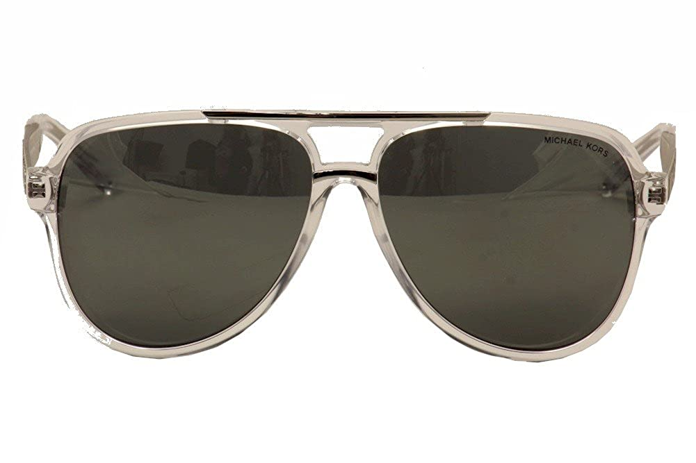 9c408dd5826ce Michael Kors Clementine II MK6025 MK 6025 30946G Clear Silver Sunglasses  60mm at Amazon Men s Clothing store