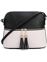 9d3e45c4a287 Lightweight Medium Dome Crossbody Bag with Tassel
