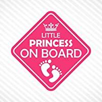Little Princess On Board Vinyl Decal Bumper Sticker Baby Girl Sticker Car Truck Van Window Sticker Self Adhesive Vinyl Car Sticker