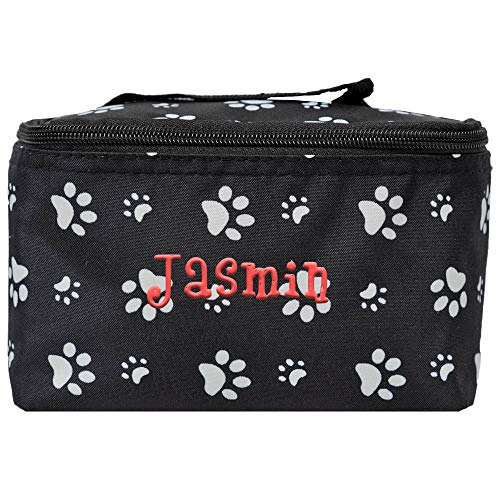 Personalized Small Cosmetic Makup Bags for the Girl on the Go (Dog Paw) -