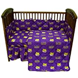 College Covers Louisiana State Tigers 5 Piece Baby Crib Set