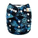 LBB(TM) Baby Resuable Washable Cloth Pocket Diaper,Sea Turtle