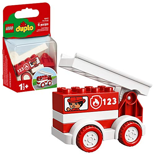 LEGO DUPLO My First Fire Truck 10917 Educational Fire Truck Toy, Great Birthday Gift for Toddlers Ages 18 Months and up, New 2020 (6 Pieces)