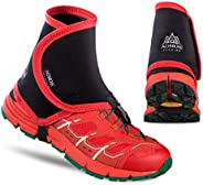 Azarxis Low Trail Gaiters Protective Shoe Covers Wrapid Gators for Men & Women & Youth Running Hiking