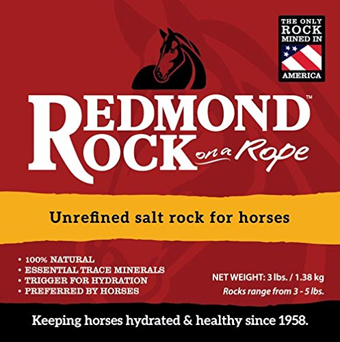 REDMOND - Rock on a Rope Unrefined Salt Rock for Horses 3 to 5 lbs (3 Pack) 7