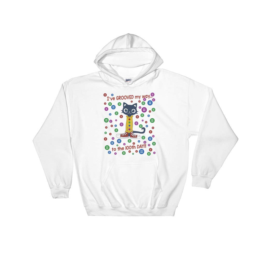Cats Grooved to 100th Day of School Cute Hooded Sweatshirt