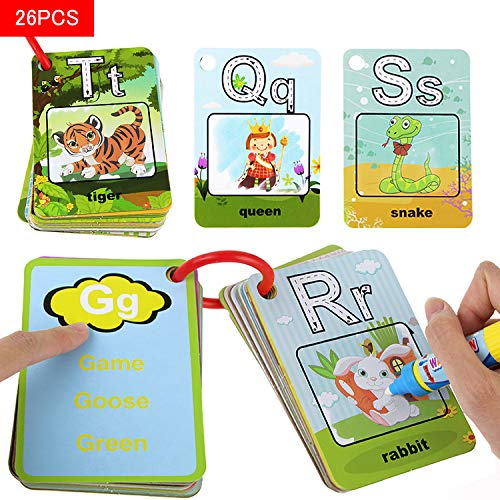 Coolplay A-Z 26 Alphabet Water Cards, Children Drawing Card for Kids Educational Toys for Travel