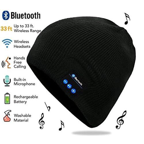 237011b7fbd Koolulu Black Bluetooth Hat