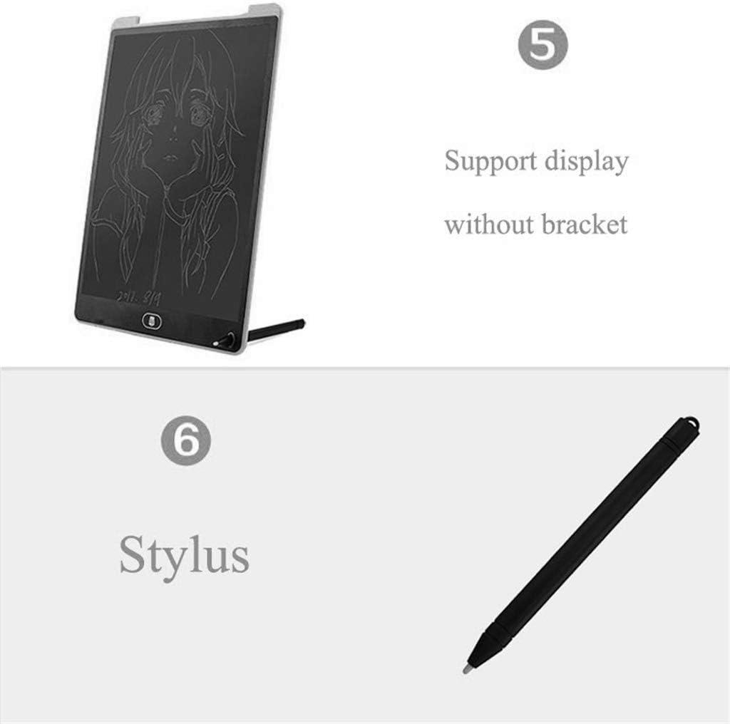12 Inch LCD Writing Board//Light Energy Smart Small Blackboard Drawing Doodle Sketch Memo Kids Drawing Board Gift White