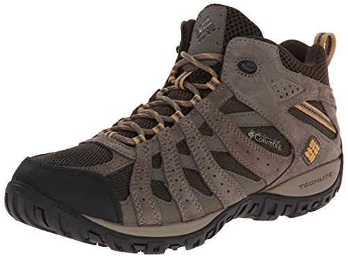 Columbia Men's Redmond Mid Waterproof Wide Hiking Boot, Cordovan, Dark Banana, 11 2E US