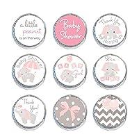 Mini Candy Stickers Gray Elephants Set of 324