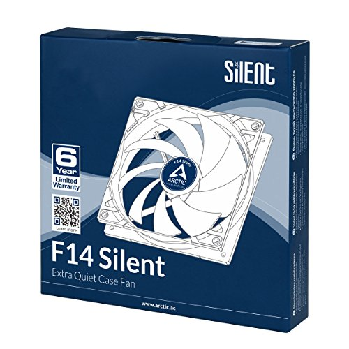 Arctic F14 Silent - Ultra-Quiet 140 mm Case Fan | Silent Cooler with Standard Case | Almost inaudible | Push- or Pull Configuration Possible by ARCTIC (Image #5)