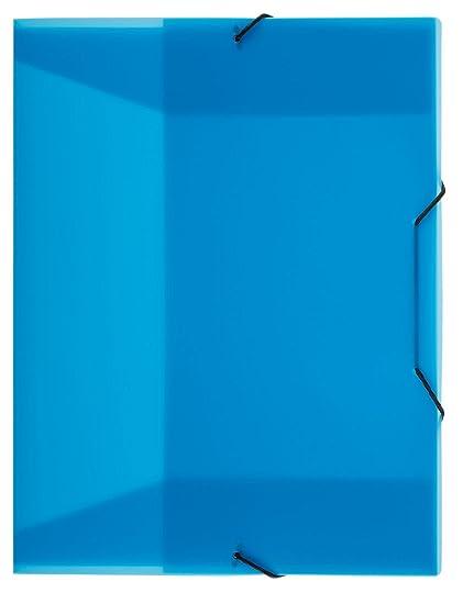 aus PP DIN A4 mit Gummizugverschluß Farbe transluzent orange Heftbox