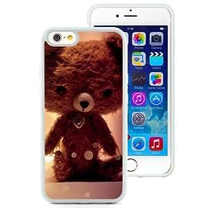 6 case,Unique Design Bear Toy Soft Glare White iPhone 6 4.7 inch TPU case cover