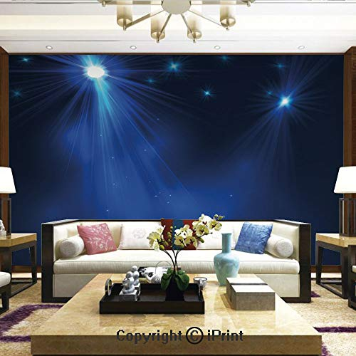 (Lionpapa_mural Removable Wall Mural Ideal to Decorate Your Dining Room,Smoky Stage Disco Night Club Studio Theater Show Fame Performance,Home Decor - 66x96 inches)