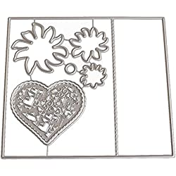 FORUU Die Cut, Metal Cutting Dies Stencils Scrapbooking Embossing Mould Templates Handicrafts DIY Card Making Paper Cards Best Gift New Flower Heart Album