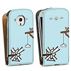 Diseño para Samsung Galaxy S3 Mini I8190 DesignTasche Downflip white - Skyworld