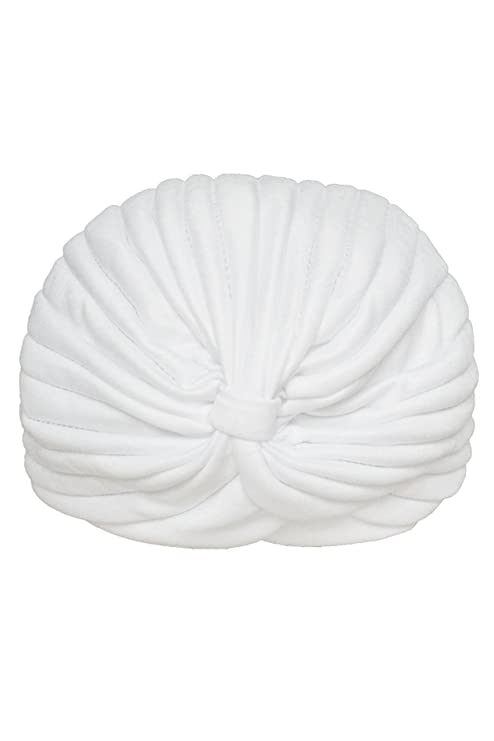 TOOGOO(R)Mujeres Envuelva Sombrero Elastico Turbante Banda de Cabeza Yoga Gorra(Blanco)