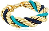Ben-Amun Jewelry St. Tropez Gold with Turquoise and Blue Rope Strand Bracelet
