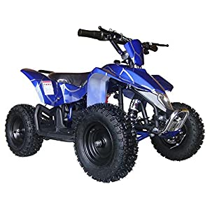 Outdoor Kids Children Sahara X 24V Blue Mini Quad ATV Dirt Motor Bike Electric Battery Powered
