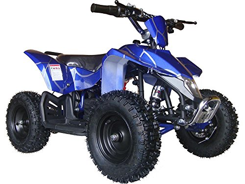 Sahara X Outdoor Kids Children 24V Blue Mini Quad ATV Dirt Motor Bike Electric Battery Powered (Quad Mini New Atv)