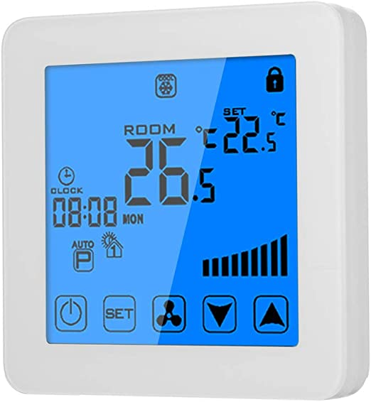 Amazon.com: Blusea 200-230V Programmable Thermostat Air ...