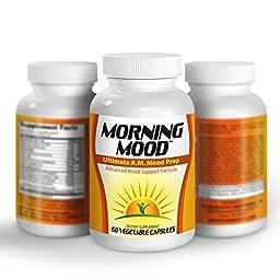 Morning-Mood: Ultimate A.M. Mood Prep (Natural Mood Enhancer / Booster / Vitamins / Supplements)