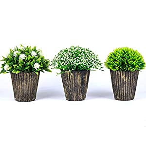Fake Plant for Bathroom/Home Decor, Small Artificial Faux Greenery for House Decorations (Potted Plants) 14