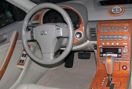 Amazon.com: INFINITI G35 G 35 G 35 2 DOOR COUPE INTERIOR BURL WOOD DASH  TRIM KIT SET 2003 2004: Automotive