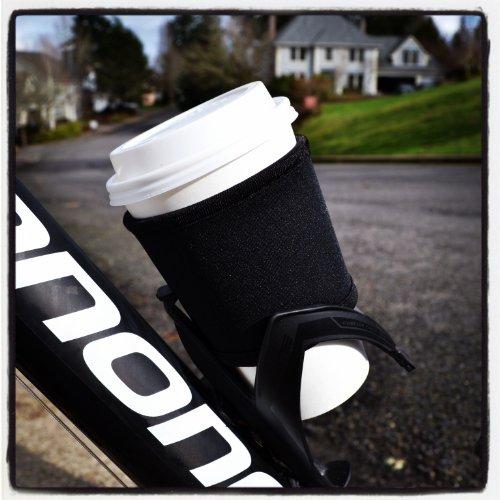 Joe Jacket Neoprene Drink Insulator, Coffee Sleeve, Cup Grip, Black (many colors avail.)