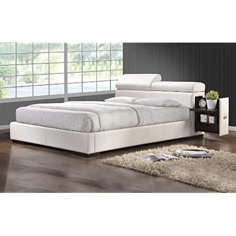 Coaster 300379KW Maxine Upholstered Cal King Bed White Leatherette
