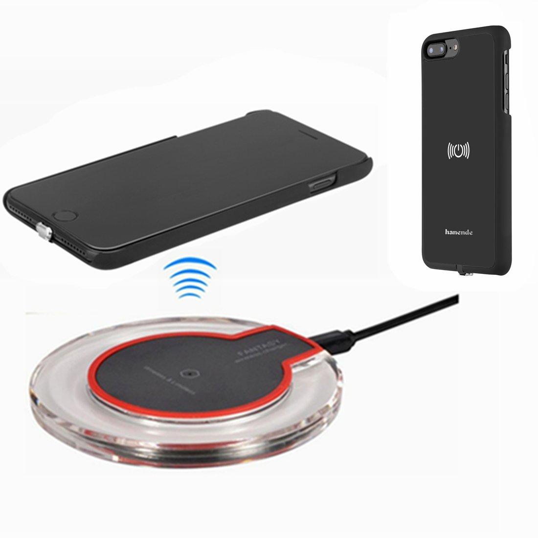 Kit de Cargador Inalámbrico para iPhone Plus hanende Qi carga inalámbrica Pad