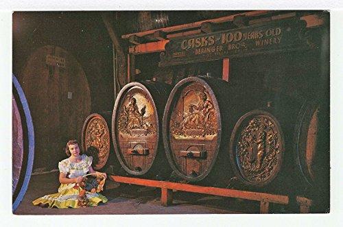 Century Old Wine Casks, Napa Valley, California Vintage Original Postcard #3494 - 1960's