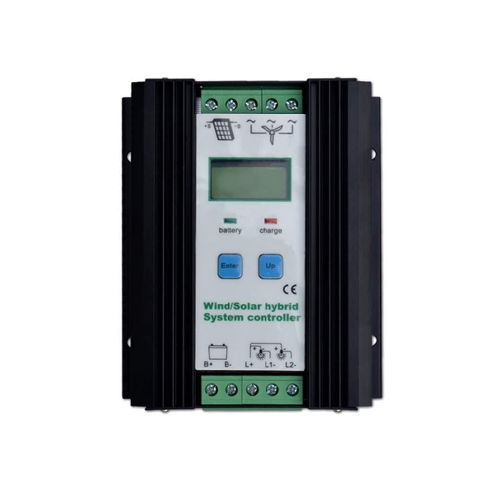 ソーラーコントローラー ソーラーコントローラー 500W ソーラーパネルチャージコントローラー 300W風力タービン 200Wソーラーパネル 充電コントローラ 12V/24V LCDディスプレイ付き 自動バッテリコントローラ B07PYPQHDJ