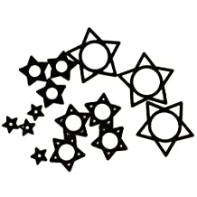 Black Hollow Star Silicone O-Rings (Pack of 10)