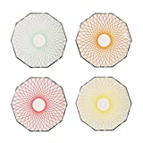Meri Meri Neon Spiro Plates, Set of 8 Plates in 4 Styles (Small)