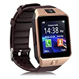TiSec Bluetooth DZ09 Smart Watch Wrist Watch Phone with Camera & SIM Card Support Compatible with Moto G5 Plus &Redmi 4A (Rose Gold)