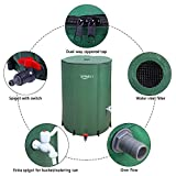 VINGLI 100 Gallon Collapsible Rain Barrel, Portable Water Storage Tank, Rainwater Collection System Downspout, Water Catcher Container with Filter Spigot Overflow Kit