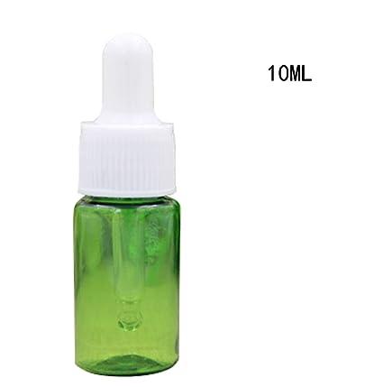 12pcs 10 ml vacío reutilizable Pet botellas de plástico de maquillaje cosméticos contenedor de muestras con