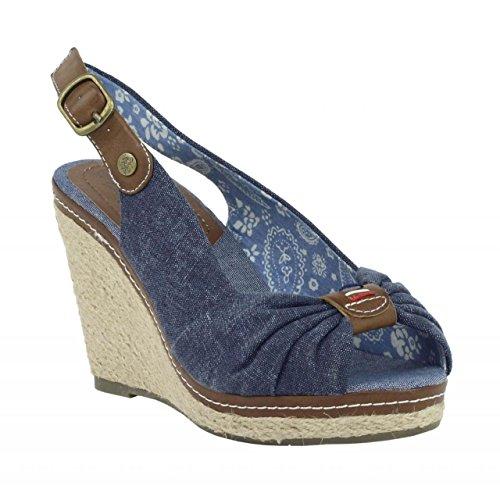 Zapatos de cuña de Mujer REFRESH 62041 JEANS NAVY