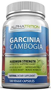 Garcinia Cambogia Extract Premium 3,000mg. Maximum Strength Appetite Suppressant & Fat Burner With HCA That Works For Men And Women. 180 Veggie Capsules. As Seen On TV.