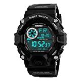 TONSHEN Men's Sports Watch Digital LED Large Face 50M Waterproof Outdoor Military Watch Water Resistant Simple Stopwatch Date Army Watch