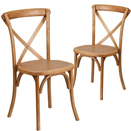 (Flash Furniture 2 Pk. HERCULES Series Oak Cross Back Chair)