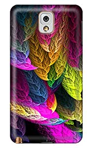 CaseandHome Abstract Colorful Feather Design PC Material Hard Case For Samsung Galaxy N9000 Note 3